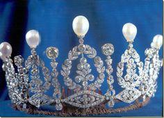 The Alba wedding tiara once owned by Empress Eugenie de Montijo, wife of Napoleon III