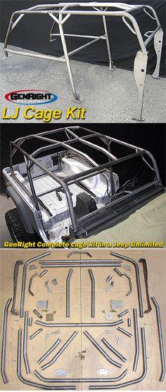 GenRight Full Roll Cage Kit, LJ