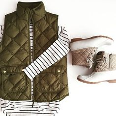 perfect for fall // vest: j.crew // shoes: sperry duck boot