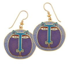Laurel Burch jewelry: silver and gold earrings