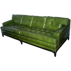 Tufted loveseat especially ones made of leather has been very popular in preserving quite beautiful and elegance piece of furniture for sale just within affordable price. Vintage Sofa, Vintage Leather Sofa, Couch With Chaise, Loveseat Sofa, Lounge Sofa, Couches, Sofas, Green Leather Sofa, Green Velvet Sofa