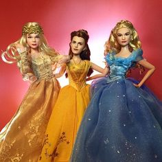 Aurora(Maleficent) Belle(Beauty and the Beast) and Cinderella(Cinderella)