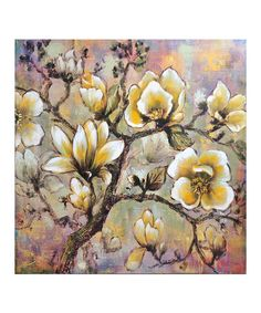 Another great find on #zulily! White Blossoms Wrapped Canvas #zulilyfinds