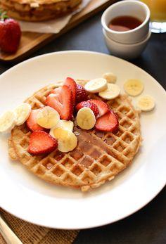 Vegan Gluten Free Waffles | Minimalist Baker Recipes  #rudisglutenfree #breakfast #gfwaffle