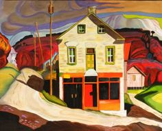 Lawren Harris - - Group of Seven Group Of Seven Artists, Group Of Seven Paintings, Paintings I Love, Tom Thomson, Emily Carr, Canadian Painters, Canadian Artists, Lauren Harris, National Art