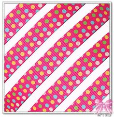 Pink polka dot ribbon by the roll | you will receive 5y 5 8 classic girl color dot pink grosgrain ribbon ...