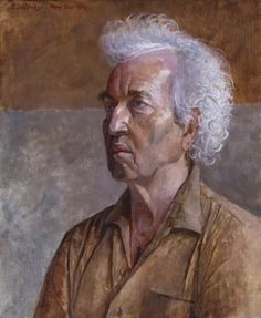 John Aldridge - Portrait of Robert Graves, 1968 John Aldridge, John Nash, Oil Painters, National Portrait Gallery, Community Art, Lovers Art, Oil On Canvas, Book Art, Romantic