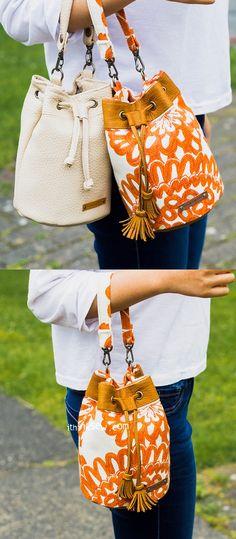 Lelia Mini Bucket Bag PDF Pattern - ithinksew.com #ithinksew