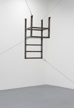 Bruce Nauman | Untitled (Suspended Chair, Vertical III) (1987)
