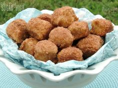Better Than Anything Cinnamon Breakfast Bites | I don't normally like making breakfast recipes, but I'll definitely make these bites! They're kind of like homemade doughnut holes but also pull-apart bread!