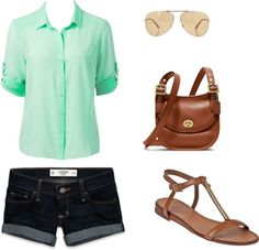 """mint green summer"" by chelder on Polyvore"