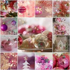 Christmas Pink Ornaments Tree Decorating