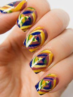manicurator: Inspired by Kandinsky  #nail #nails #nailart