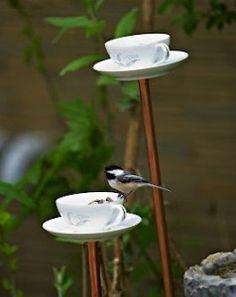 Tea Time! Thee servies vogelvoederhuisje