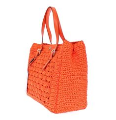Dolce&Gabbana Raffia Tote in Orange
