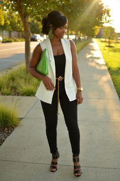 Outfit Idea: Sleeveless Blazer