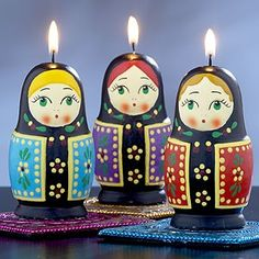 Russian Doll Candles, Set Of 3