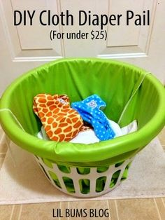 made my diaper hamper for less than $25!
