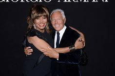Giorgio #Armani e Tina Turner http://howcool.it/ospiti-a-one-night-only-roma/