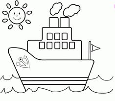 Printable Sailboat Coloring Pages