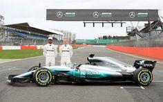 Download wallpapers Mercedes AMG Petronas Motorsport, Formula 1, team, 4k, Lewis Hamilton, Valtteri Bottas  Mercedes AMG F1 W08