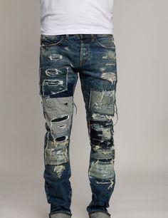 Enzyme Stone Wash Men's Designer Slim Fit Denim Jeans Denim Jeans, Ripped Jeans Men, Torn Jeans, Repair Jeans, Clothing And Textile, Denim Trends, Mens Joggers, Best Jeans, Vintage Denim
