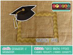 Marco gigante de Graduación - Graduación… Podemos personalizarla con cualquier tema! • Graduation giant photo frame - Graduation... We can personalize it with any party theme!