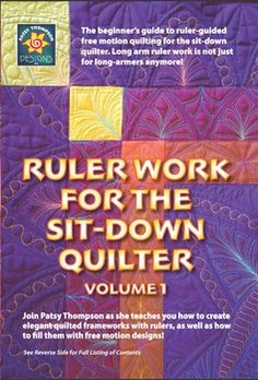 Patsy Thompson Designs: Shop | Category: Quilting DVD's by Patsy Thompson Designs | Product: Ruler Work for the Sit-Down Quilter Vol. 1