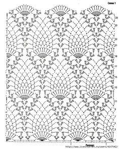 Photo from album Crochet Waffle Stitch, Gilet Crochet, Crochet Wool, Crochet Art, Crochet Stitches Chart, Crochet Motif Patterns, Crochet Diagram, Knitting Patterns, Crochet Flower Tutorial
