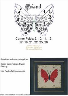 Friend on Craftsuprint designed by Anna Babajanyan - Beautiful butterfly pattern suitable for almost any occasion cards! - Now available for download!