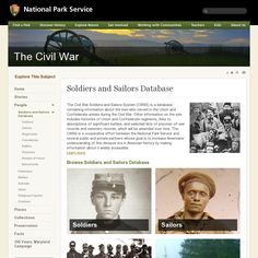 """""""The Civil War Soldiers and Sailors System (CWSS) is a database containing information about the men who served in the Union and Confederate armies during the Civil War. Other information on the site includes histories of Union and Confederate regiments, links to descriptions of significant battles, and selected lists of prisoner-of-war records and cemetery records.""""  http://www.nps.gov/civilwar/soldiers-and-sailors-database.htm snapped on Snapito!"""