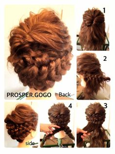Surprisingly simple braided and Pinned updo Romantic Hairstyles, Up Hairstyles, Pretty Hairstyles, Wedding Hairstyles, Wedding Hair Up, Bridal Hair, Hair Arrange, Wedding Hair Inspiration, Hair Designs