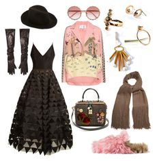 """Untitled #1395"" by harikleiatsirka on Polyvore featuring Valentino, Oscar de la Renta, Gucci, Kijima Takayuki, Michael Kors, Denis Colomb and Dolce&Gabbana"