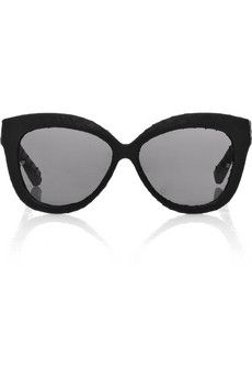 c014841a4674 Black watersnake-covered acetate Smoky lenses