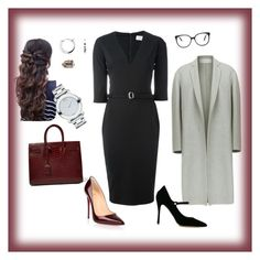 """Work"" by cgraham1 on Polyvore featuring Victoria Beckham, Tabitha Simmons, Christian Louboutin, Blue Nile, SPINELLI KILCOLLIN, Movado and Yves Saint Laurent"