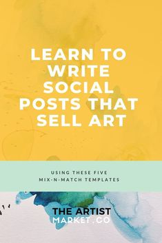 this is great because it teaches you how to get the word out about your art and how to engage with l larger audience Selling Art Online, Online Art, Sales And Marketing, Social Media Marketing, Facebook Marketing, Sell My Art, Creative Business, Business Tips, Serious Business