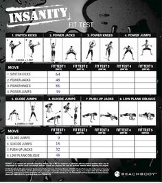 Insanity Workout Schedule - Free Download.  Get the Insanity Fit Test Card and Insanity Workout Calendar by visiting http://videoworkoutreview.com/insanity-workout-schedule/