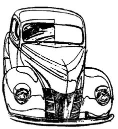 275 best cars images vintage cars rolling carts sketches Limo Convertible line art hot rods coloring