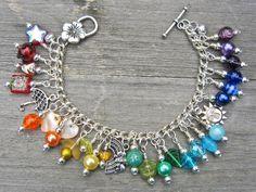Paraguas de arco iris encanto pulsera pulsera por WychwoodDreams