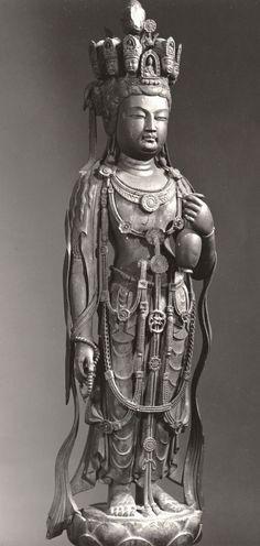九面観音立像(法隆寺)Guanyin [ Hōryū-ji ] from Tang dynasty