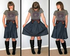 denim-skirt by Blue Collar Kyla, via Flickr