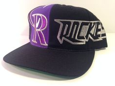 Colorado Rockies American Needle Baseball Snapback Hat 100% Wool Great Condition #AmericanNeedle #ColoradoRockies
