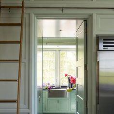 Kitchen With Ladder Rail
