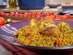 Adobo Seasoned Chicken & Rice   This recipe requires a LOT of ingredients and a fair amount of skill but it's really worth it! This rivals the delicious authentic Arroz Con Pollo we had in the hotel we stayed at in Mexico City. The chicken has to be super moist (almost dripping) and really flavorful and the Adobo flavor HAS to come through in every bite! This recipe hits all those notes!
