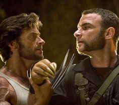 X-Men Origins - Wolverine Pictures Liked this movie,,,, not sure about the rest of the X-Men movies, Liev and Hugh are both awesome actors and they are beautiful!.