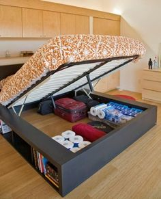 Storage Solutions for the Bedroom. Whore does one get one of these? I want!!! My mom always tell me I have a mess under my bed. This will help tons