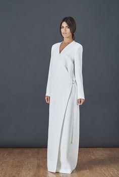 Minimal Viscose Wrap Jacket Abaya - Abayas - Shop