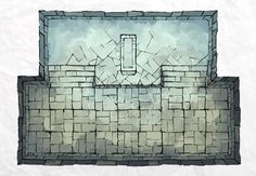 The Dungeon Icy Tomb, a FREE battle map for D&D / Dungeons & Dragons, Pathfinder, Warhammer and other table top RPGs. Tags: basement, crypt, dungeon, geomorph, grave, tile, tiles, tileset, tomb, undead, underground