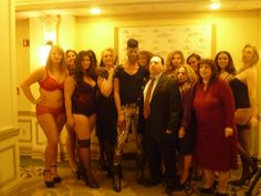 """Here I am at the Press Conference/Lingerie Show announcing Jeff Grinstein Entertainment's """"Curvy Fashion Show"""" which is set to debut during Fashion Week September 2012"""