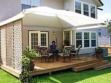 Backyard Awning Ideas awning design ideas with small white chair and clean white patio furniture sets large Google Image Result For Httpwwwtricoshadecomimages